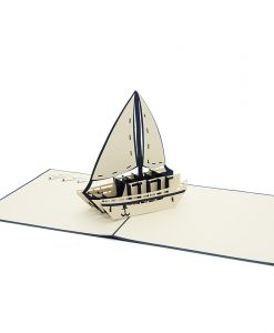FS089 Sail boat pop up card- boat pop up card- sport pop up card- pop up card holiday- 3d card wholesale (1)