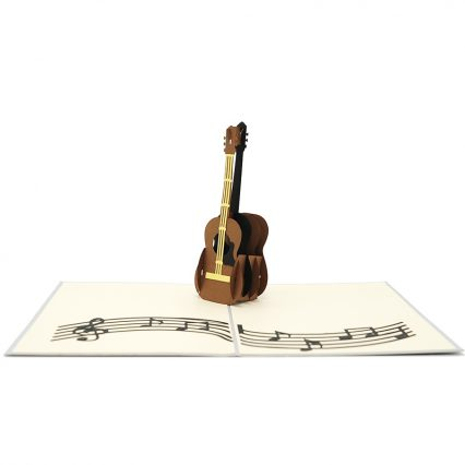 FS090- Guitar pop up card- 3D pop up greeting cards, Kirigami pop up card-paper cuting card-3d pop up laser cuting card, wholesale pop up cards-pop up cards manufacturer supplier (1)