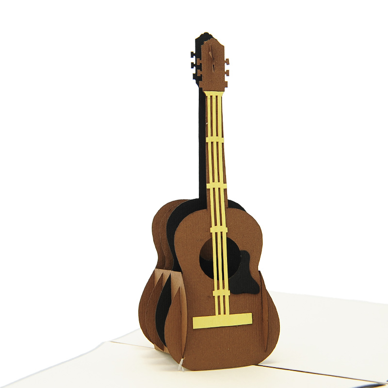 Guitar Pop Up Card Birthday Music 3D Cards Charm Germany