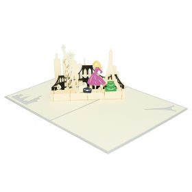 FS092- Street style pop up card- 3D pop up greeting cards, Kirigami pop up card-paper cuting card-3d pop up laser cuting card, wholesale pop up cards-pop up cards manufacturer supplier (3)