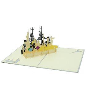 FS093- City girl pop up card- 3D pop up greeting cards, Kirigami pop up card-paper cuting card-3d pop up laser cuting card, wholesale pop up cards-pop up cards manufacturer supplier (1)