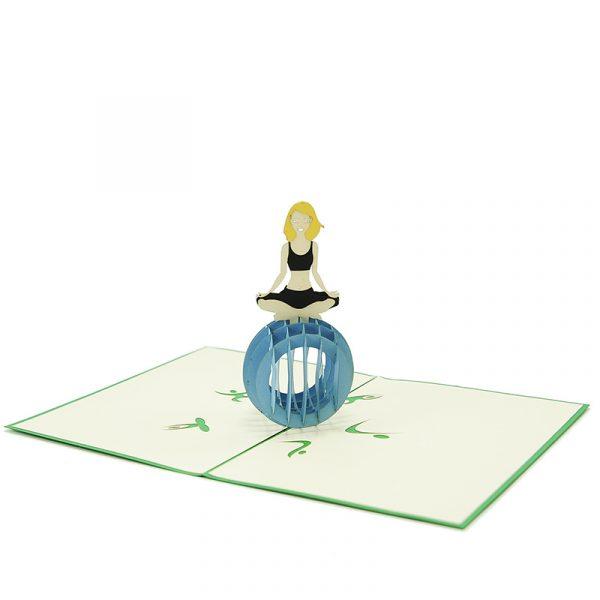 FS094- Yoga pop up card- 3D pop up greeting cards, Kirigami pop up card-paper cuting card-3d pop up laser cuting card, wholesale pop up cards-pop up cards manufacturer supplier (2)