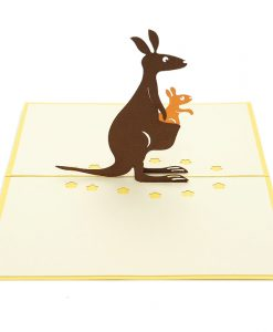 NB017 Kangaroo pop up card- 3D greeting cards-pop up card wholesale-pop up card manufacturer (2)