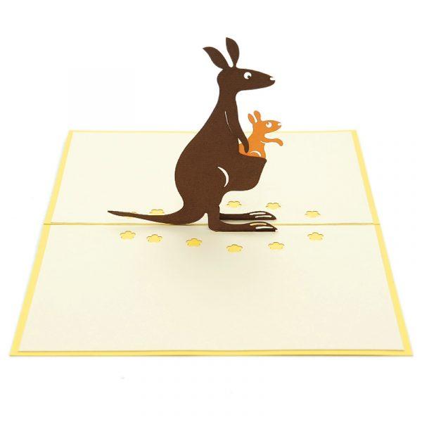NB017 Kangaroo pop up card- 3D greeting cards-pop up card wholesale-pop up card manufacturer (2)