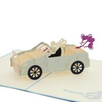 WD032-wedding car pop up card- 3d greeting card manufacturer- birthday pop up card best quality- wholesale pop up card (4)