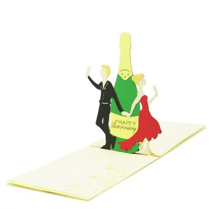 WD034- anniversary celebration pop up card- 3D pop up greeting cards, Kirigami pop up card-paper cuting card-3d pop up laser cuting card, wholesale pop up cards-pop up cards manufacturer supplier (2)