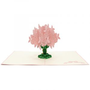 FL006R-Rose kirigami card, custom pop up Card, flower pop up gift, birthday kirigami card (4)