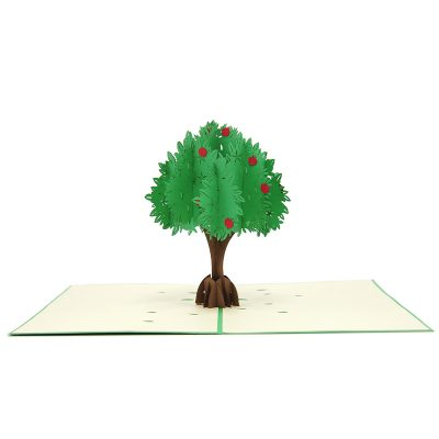 FL041-Apple tree pop up card- 3D card-Vietnam custom cards wholsale- Charm Pop (1)