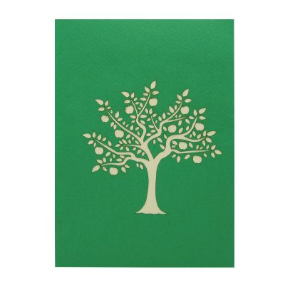 FL041-Apple tree pop up card- 3D card-Vietnam custom cards wholsale- Charm Pop (2)