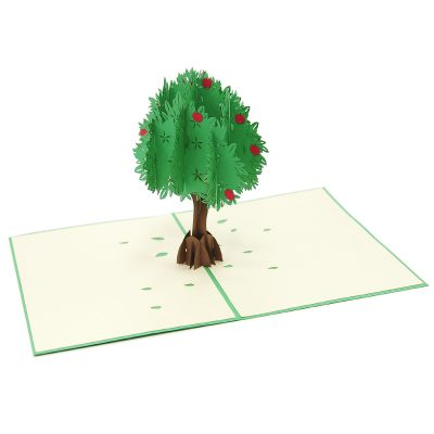 FL041-Apple tree pop up card- 3D card-Vietnam custom cards wholsale- Charm Pop (4)