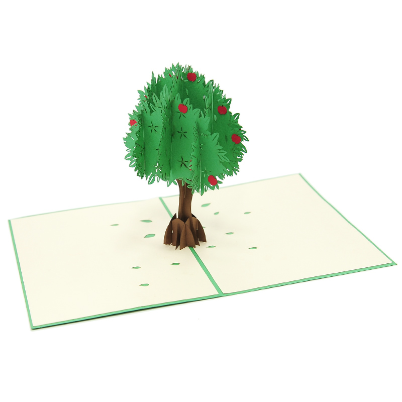 Apple tree pop up card- 3D card-Vietnam custom cards wholsale- Charm Pop