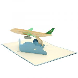 FS095-Airplane kirigami card-custom 3D Card- kirigami card wholesale- kirigami card manufacturer (6)