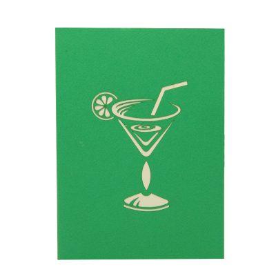 FS096G-Cocktail pop up card, summer vibes 3D cards supplier, pop up card wholesale, pop up card manufacturer (1)