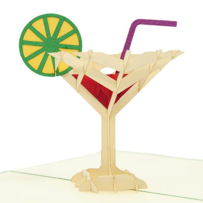 FS096G-Cocktail pop up card, summer vibes 3D cards supplier, pop up card wholesale, pop up card manufacturer (3)