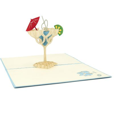 FS096b-Cocktail pop up card, summer vibes 3D cards supplier, pop up card wholesale, pop up card manufacturer (1)
