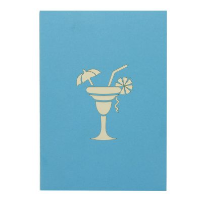 FS096b-Cocktail pop up card, summer vibes 3D cards supplier, pop up card wholesale, pop up card manufacturer (2)