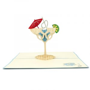 FS096b-Cocktail pop up card, summer vibes 3D cards supplier, pop up card wholesale, pop up card manufacturer (3)