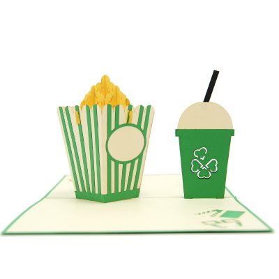 FS098-Movie night pop up card, pop up card manufacturer, wedding cards- birthday pop up card- cinema card- popcorn kirigami card (4)