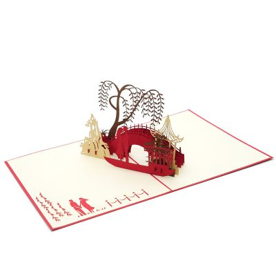 LV048- Love Date pop up card- love kirigami card- 3D card wholesale- pop up card manufacturer- charmpop (3)