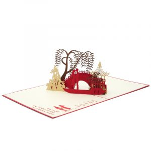 LV048- Love Date pop up card- love kirigami card- 3D card wholesale- pop up card manufacturer- charmpop (4)