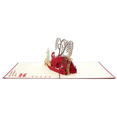 LV048- Love Date pop up card- love kirigami card- 3D card wholesale- pop up card manufacturer- charmpop (5)