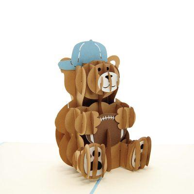 rugby teddy pop up card- pop up card for boys- teddy pop up card- pop up card manufacturer (2)