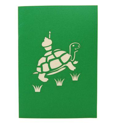 BG071- Cupcake turtle pop up card- turtle pop up card- pop up card wholesale- pop up card manufacturer- kirigami card supplier- kirigami card vietnam- pop up card vietnam (1)