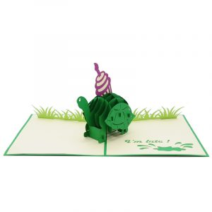 BG071- Cupcake turtle pop up card- turtle pop up card- pop up card wholesale- pop up card manufacturer- kirigami card supplier- kirigami card vietnam- pop up card vietnam (2)