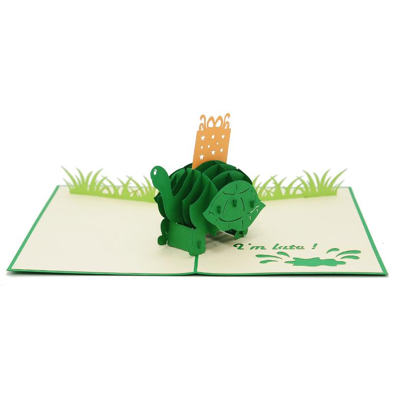 BG072 Birthday turtle pop up card- pop up card wholesale- pop up card vietnam- pop up card supplier (2)