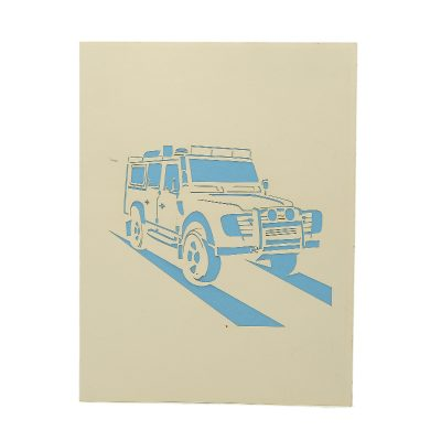 FS100 Range Rover pop up card- pop up card wholesale- pop up card manufacturer- kirigami card supplier- kirigami card vietnam- pop up card vietnam (1)