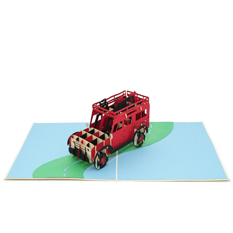 FS100 Range Rover pop up card- pop up card wholesale- pop up card manufacturer- kirigami card supplier- kirigami card vietnam- pop up card vietnam (3)