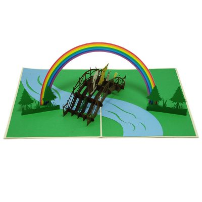 FS102-Rainbow animal pop up card- birthday animal pop up card- pop up card for kids- pop up card wholesale- pop up card manufacturer- kirigami card supplier- kirigami card vietnam- pop up card viet (2)