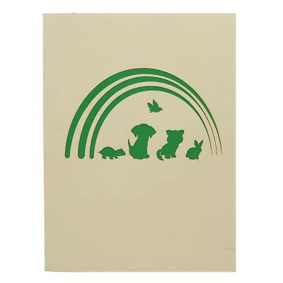 FS102-Rainbow animal pop up card- birthday animal pop up card- pop up card for kids- pop up card wholesale- pop up card manufacturer- kirigami card supplier- kirigami card vietnam- pop up card vietnam (1)