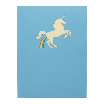 FS103 Unicorn pop up card- unicorn kirigami card- unicorn 3D card – magical unicorn card – pop up card wholesale- pop up card manufacturer- kirigami card supplier- kirigami card vietnam (1)