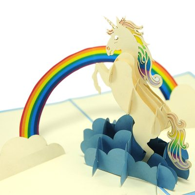 FS103 Unicorn pop up card- unicorn kirigami card- unicorn 3D card – magical unicorn card – pop up card wholesale- pop up card manufacturer- kirigami card supplier- kirigami card vietnam (2)