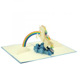 FS103 Unicorn pop up card- unicorn kirigami card- unicorn 3D card - magical unicorn card - pop up card wholesale- pop up card manufacturer- kirigami card supplier- kirigami card vietnam (3)