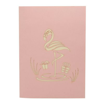 FS104 Flamingo pop up card- flamingo kirigami card- pop up card for her- pop up card wholesale- pop up card manufacturer- kirigami card supplier- kirigami card vietnam- pop up card vietnam (3)