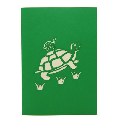 FS105 Turtle Mother pop up card- new baby popup card- turtle pop up card- pop up card wholesale- pop up card manufacturer- kirigami card supplier- kirigami card vietnam- pop up card vietnam (4)
