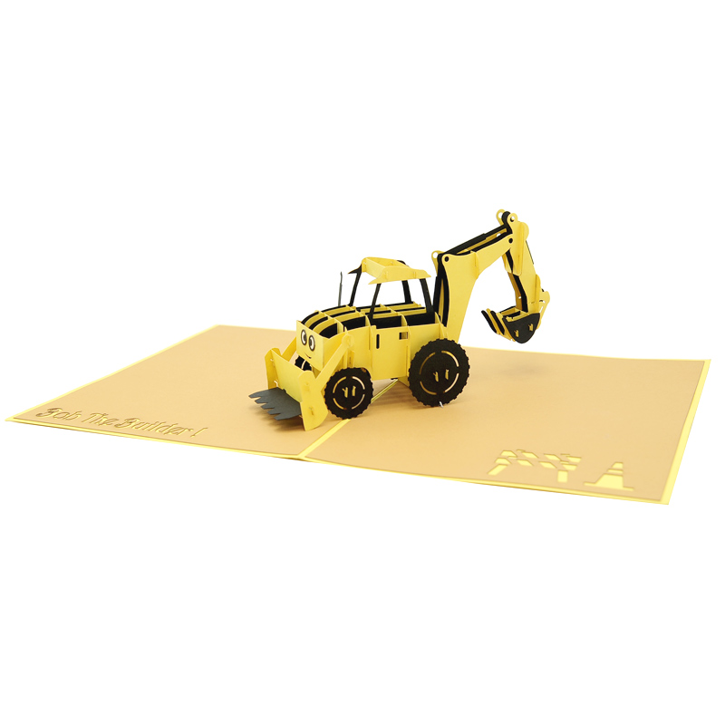 bob the builder pop up card pop up birthday card 3d card. Black Bedroom Furniture Sets. Home Design Ideas