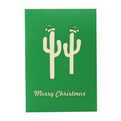 Christmas Cactus twin pop up card- pop up card wholesale-pop up card manufacturer-christmas pop up card (2)