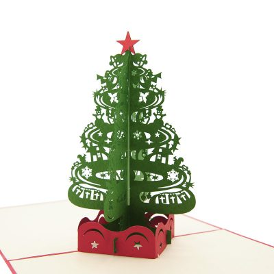 Christmas Tree pop up card–pop up card wholesale-popupcard manufacturer-Christmas pop up card (1)