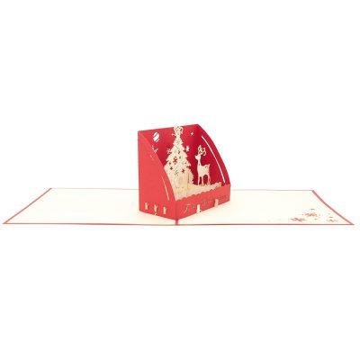Christmas box pop up card-pop up card wholesale-popupcard manufacturer-Christmas pop up card (1)