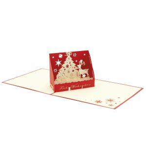 Christmas box pop up card-pop up card wholesale-popupcard manufacturer-Christmas pop up card (3)