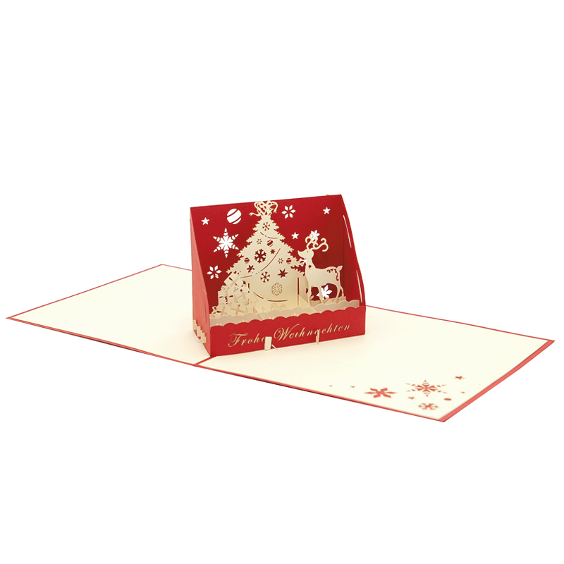 Christmas box pop up card-pop up card wholesale-popupcard manufacturer-Christmas pop up card (3)