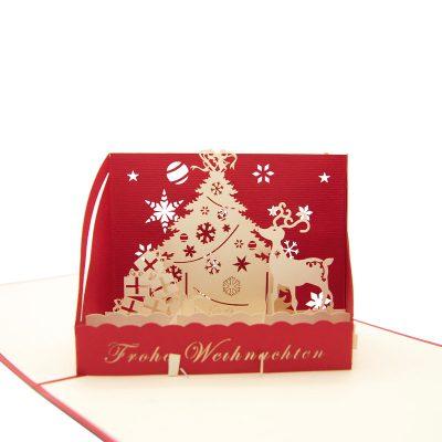 Christmas box pop up card-pop up card wholesale-popupcard manufacturer-Christmas pop up card (4)