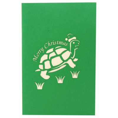 Christmas turtle pop up card-pop up card wholesale-pop up card manufacturer-christmas pop up card (2)