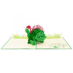 Christmas turtle pop up card-pop up card wholesale-pop up card manufacturer-christmas pop up card (3)