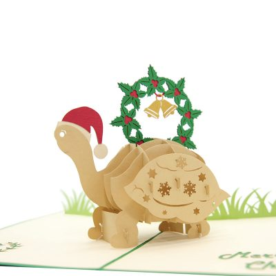 Christmas turtle pop up card-pop up card wholesale-pop up card manufacturer-christmas pop up card1 (1)