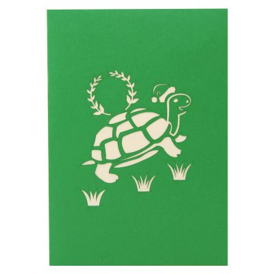Christmas turtle pop up card-pop up card wholesale-pop up card manufacturer-christmas pop up card1 (2)