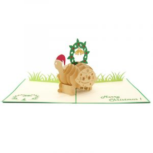 Christmas turtle pop up card-pop up card wholesale-pop up card manufacturer-christmas pop up card1 (3)